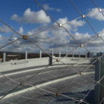 Alder Hey Carpark Roof Webnet Fence Close Up